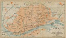 'Canton'. Guangzhou antique town city plan. China 1915 old map chart