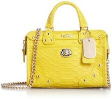 NEW  RARE SOLD OUT  Coach #34743 Rhyder Satchel 18 in python embossed leather