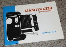 Original Mamiya C220 Professional Instruction Manual.Free Shipping.