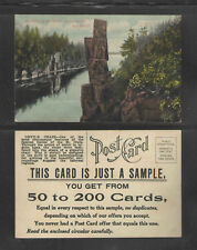 1910s { SAMPLE } THE DALLES OF THE ST CROIX RIVER WISCONSIN ADVERTISING POSTCARD