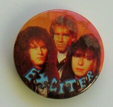 EXCITER VINTAGE METAL BUTTON BADGE FROM THE 1980's SPEED THRASH METAL RETRO