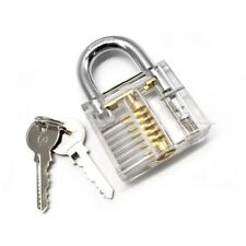BIG transparent padlock training unlock lockpicking lockpick crochetage pro **