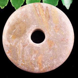 Bamboo Leaf Stone Donut Pendant Bead 48x6mm F36911