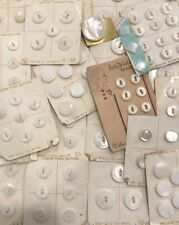 Vintage Genuine Pearl Buttons MOP on 25 Cards