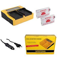Caricabatteria casa//auto Patona per Canon DC211,DC22,DC220,DC230,DC40,DC50,DC51