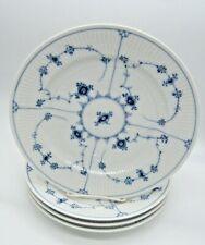 """4 ROYAL COPENHAGEN BLUE FLUTED PLAIN DINNER PLATE 10 1/4"""" 1/175 #1"""