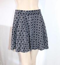 factorie Brand Black White Floral Tile Print Flip Skirt Size M BNWT #TD01