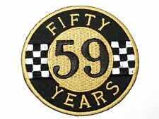 Fifty Years 59 Motorbike Biker Cafe Racer Iron On Embroidered Shirt Badge Patch