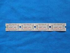 Vintage 75 Cent Circle Theatre Tickets (Strip of 4) Drive-In Movie/Cinema - LA