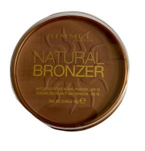 RIMMEL NATURAL BRONZER WATERPROOF BRONZING POWDER SHADE 026 SUN KISSED NEW