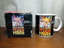 Applause Hulk Hogan python power Mug WWF WWE vintage collectible