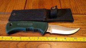 VINTAGE SCHRADE USA OLD TIMER 142OT GUIDEMASTER HUNTING KNIFE w/SHEATH