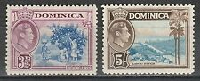 DOMINICA 1938 KGVI PICTORIAL 31/2D AND 5/-