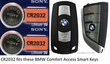 Remote Key Fob Battery CR2032 for BMW Comfort Access Keyless Start Remote - 2 Pk