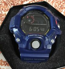 Casio G-Shock Rangeman GW-9400Nv Triple Sensor Solar Atomic Blue Watch Rare
