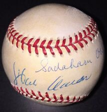Hank Aaron & Sadaharu Oh AUTOGRAPHED SIGNED BASEBALL ONL PSA/DNA Full Letter