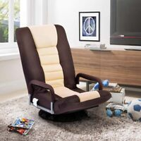 Swivel Gaming Chair Racing Recliner Adjustable Floor Chair Folding Sofa Lounger