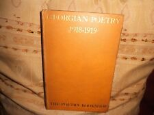 Georgian Poetry 1918-1919 (Poetry Bookshop) 1919 HB inc Robert Graves S Sassoon