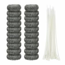 20 PCS Lint Traps Washing Machine Snare Laundry Mesh Washer Hose Filter With Tie