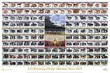 Kentucky Derby 135 WINNERS SINCE 1875 Horse Racing Premium POSTER Print