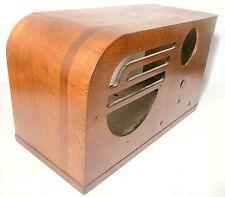 vintage PHILCO 37-630 RADIO part: ART DECO CLASSIC WOOD SHELL  in  nice shape -