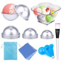 Bath Bomb Mold DIY Bath Bomb Molds Kits-12 pcs 3 size with 100 Shrink Wrap BAGS