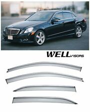 WellVisors Side Window Visors Chrome Trim For 10-14 Mercedes Benz W212 E-Class