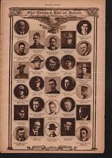 World War I Roll of Honor 1919 Deaths of Heros WWI #10