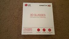 LG 3d Glasses AG-F314 Bundle 4 Pairs Passive