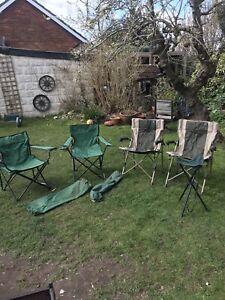 5 Folding Picnic Fishing Chair Garden Outdoor Camping Fishing 2 MAC SPORTS