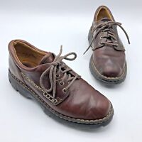 Born B6346 Women Brown Leather Lace Up Oxford Shoe Size 8.5 EUR 40 Pre Owned