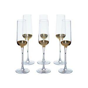Set of 6 Designer Champagne Glass Flutes