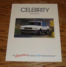 Original 1989 Chevrolet Celebrity Foldout Sales Brochure 89 Chevy