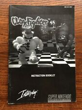 Clay Fighter ClayFighter Super Nintendo SNES Instruction Manual Only