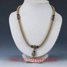 Chinese Old  Brass Handwork Decoration Necklaces XL055