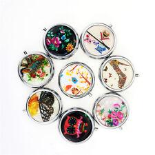 Portable Metal Folding pill case Medicine Organizer Box Makeup Storage Container