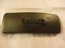 Chanel Brown Leather Hair Clip Barrette