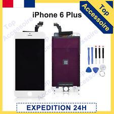 ECRAN IPHONE 6 PLUS BLANC VITRE TACTILE + LCD ORIGINAL RETINA SUR CHASSIS+OUTILS