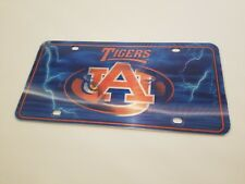 Auburn Tigers License Plate 3D Hologram Dual Logo Car Tag Licensed NCAA