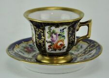 Sevres Antique Cobalt Blue Cup and Saucer with Flower Design Cup 2(BI#MK/180222)