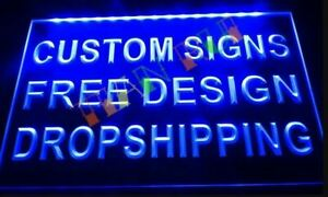 Custom Personalised Own Design LED Neon Bar Sign Home Light up Pub Shop Logo
