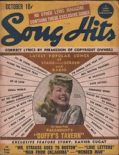Song Hits Song Lyrics Magazine October 1945 Gd/VG 120315DBE