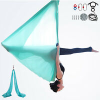 Aerial Silks Yoga Swing Kit Yoga Home Anti-gravity Fitness Gym 10m