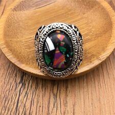 Vintage Men's woman 316L Stainless Steel Vogue Design Mini Stone Ring Size 10