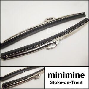 """Classic Car Wiper Blade Stainless Steel 10"""" PAIR GWB219 mini mg austin gt chrome"""