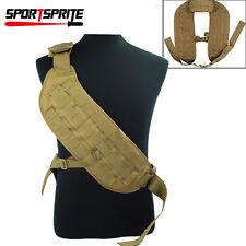 Tactical Molle DIY Strike Bandoleer Shoulder Padded Strap with Webbing Belt Tan