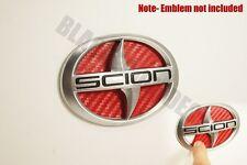 (11-2013) Scion TC RED Carbon Fiber Rear Trunk Inlay Emblem Decal vinyl smoked
