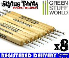 Professional Metal BALL STYLUS tool - 8pcs - Sculpting Burnisher Tools Warhammer