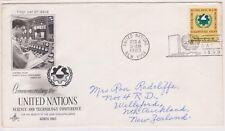 (K81-6) 1963 UN FDC 10c commemoration of the UN used (F)