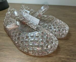 New Toddler Girls Old Navy Multi-Color Glitter Basketweave Jelly Sandals 5 11
